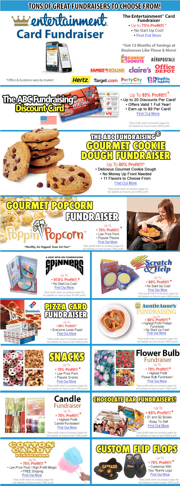 Tons of great fundraisers