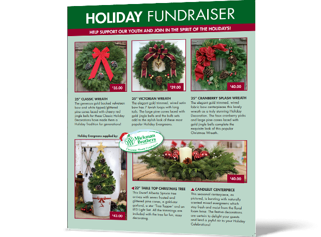 Christmas Fundraiser Flyer.Holiday Fundraiser Up To 35 Profit Abc Fundraising