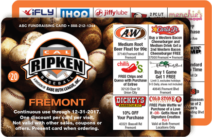 Discount Card Fundraiser Sample Card