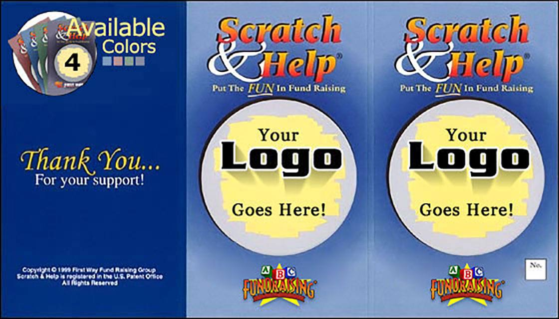 Scratch Card Fundraiser Scratch & Help Outside Of Card