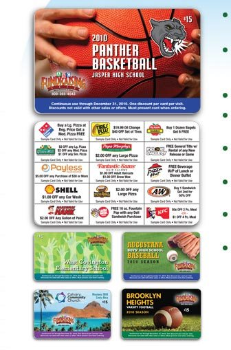 Discount Card Fundraiser Sample Cards
